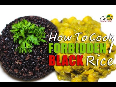 Forbidden Rice: How to Cook Black Rice Caribbean Style