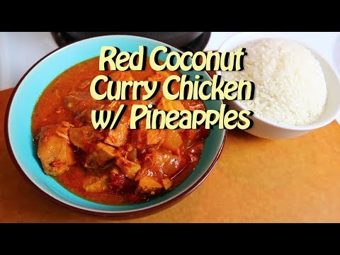 Easy Red Curry Chicken with Pineapples Easy Recipe Eps 82