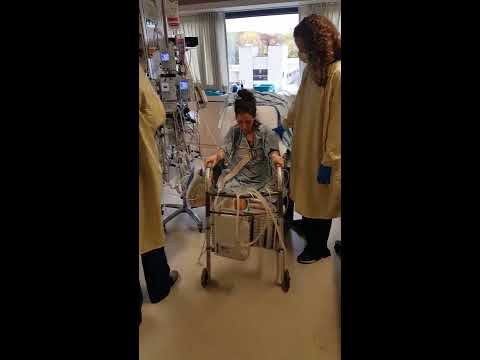 First steps 4th day after double lung transplant