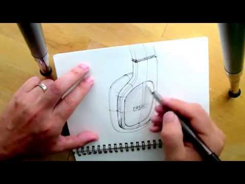 How to draw Headphone -Product Design Sketching.