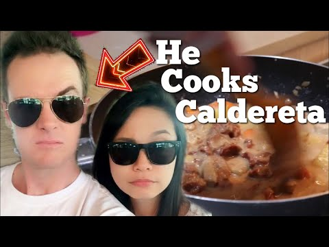 Cooking Filipino food for my Filipina wife!