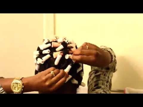 Perm Rods on Short Tapered Cut | Texlaxed Hair Tutorial