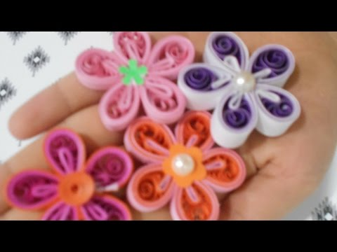 How to make a quilling malaysian flower|4 different types