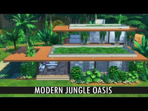 The Sims 4 - Speed Build - MODERN JUNGLE OASIS