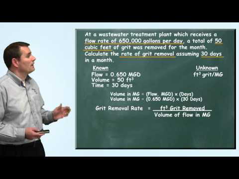 Problem Solved: Grit Removal Rate Problem - Wastewater Math