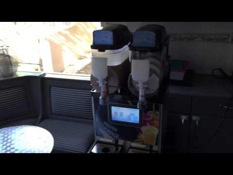Coffee Frappe Slush Mix in new Touch Screen LCD Slush Machine Unit