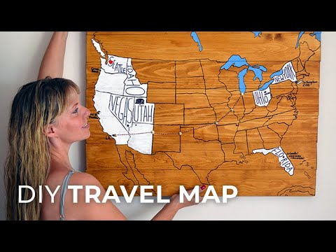 DIY Travel Map - Personalized travel artwork