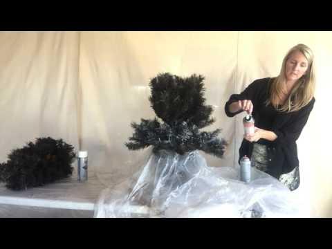 Easy DIY Flocked Christmas Tree