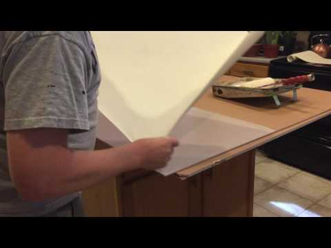 Mounting Canvas onto Board