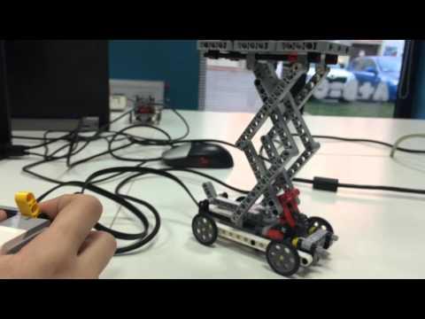 Lego Mindstorms EV3 Scissor lift /cross lift, podnośnik
