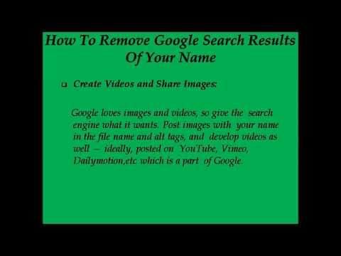 How To Remove Google Search Results Of Your Name