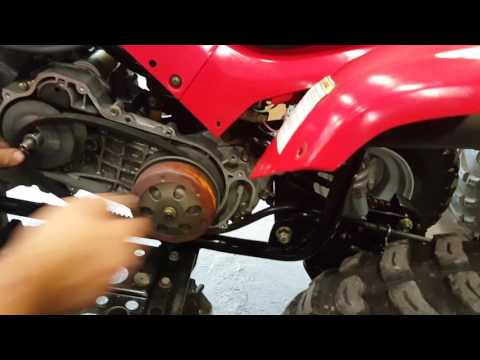 Speed collar removal for Arctic Cat DVX 90 - FASTER!