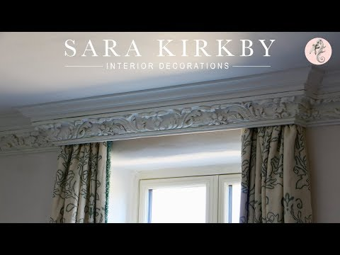 The Cicely Pelmet | Stunning Carved Pelmet Box by Sara Kirkby