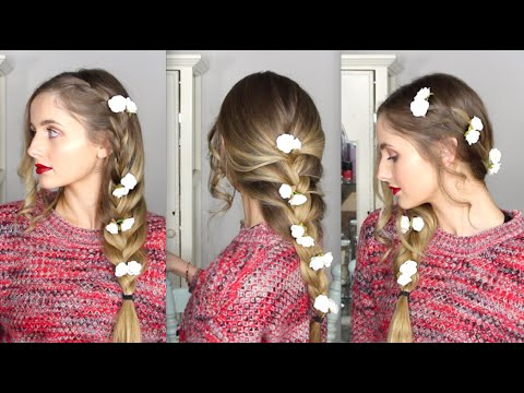 Floral Braided Hair Tutorial - 3 Styles + How to make flowers