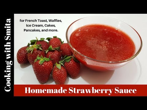 How to make Strawberry Sauce / Puree (for cakes & desserts) by Cooking with Smita