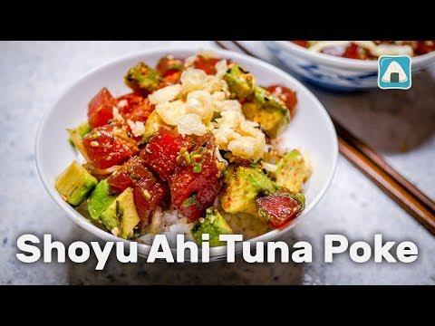 Hawaiian Shoyu Ahi Tuna Poke
