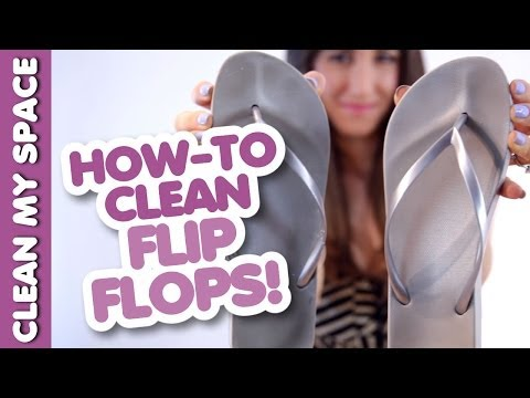 How to Clean Your Flip-Flops! Save Time & Money Cleaning Shoes & Footwear (Clean My Space)
