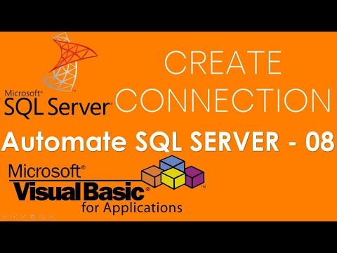 VBA and SQL Server - How to create connection to SQL Server Database from Excel. Part-8