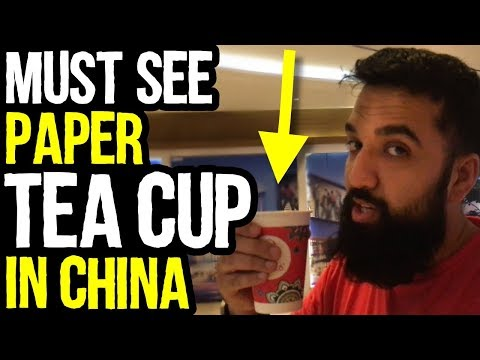 Must See Amazing PAPER TEA CUP in China | Azad Chaiwala Show
