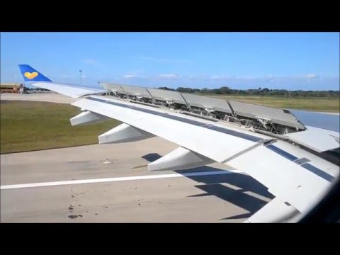Thomas Cook Airbus A330 approaching and landing at Varadero airport in Cuba