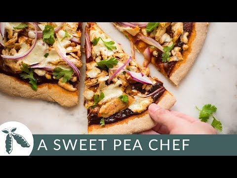 Best BBQ Chicken Pizza | Easy Whole Wheat Pizza Crust | A Sweet Pea Chef