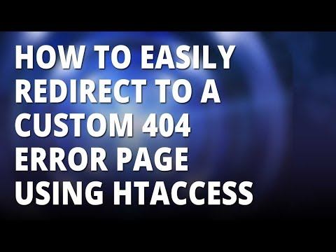 How to redirect to a custom 404 page with htaccess
