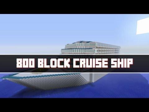 Minecraft 800 Block Cruise Ship Update Minecraft Xbox 360