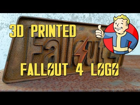 3D Printed Fallout 4 Logo | Timelapse | weathering & Rusting | Myminifactory