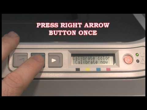 Calibration for the HP 2600n Color LaserJet Printer