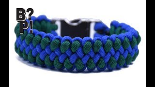 DIY Paracord Bracelet Cobra with microcord stitching - World