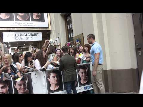 Daniel Radcliffe signing autographs on Broadway