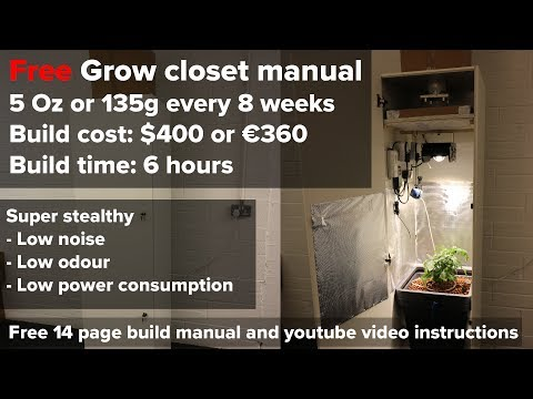 FREE Closet grow build manual overview