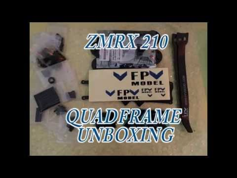 drone build: zmrx210 frame unboxing and overview