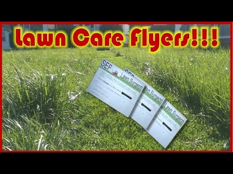 Lawn Care Flyers and How to Pass Them Out!!