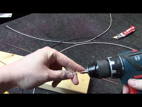 How to make perfectly straight copper buss wire for your tube amplifier