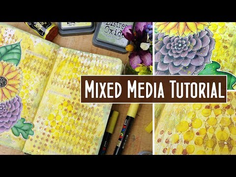 Playing with Yellow: Mixed Media Art Journal Page Tutorial - Take 5 March - Creative Collage Ep 4