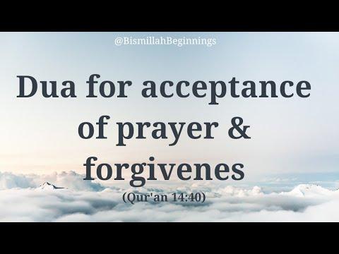 LEARN the Dua for acceptance of prayer & forgivenes   Rabbij-alni muqimas swalati wa min thurriyyat