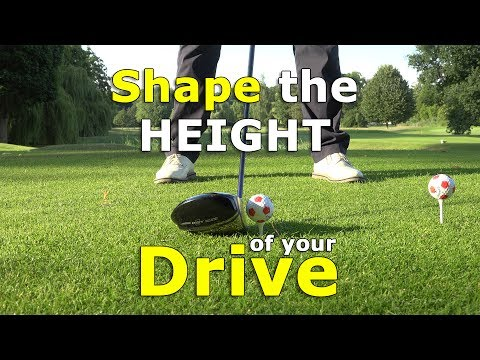 Control the ball flight of your DRIVE - Hit high or low drives on the tee