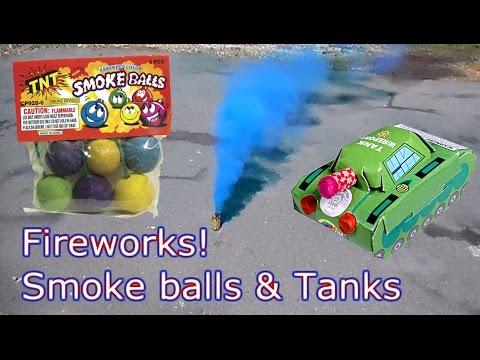 Smoke balls, army smoke, and tank fireworks