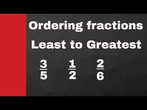 Ordering fractions from least to greatest