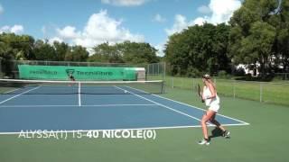 Non-Edited Practice Match Alyssa Mayo vs WTA #419 Nicole Frenkel