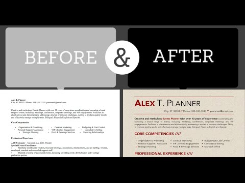 Easy 4-Minute Resume Design Makeover ★ Using Microsoft Word
