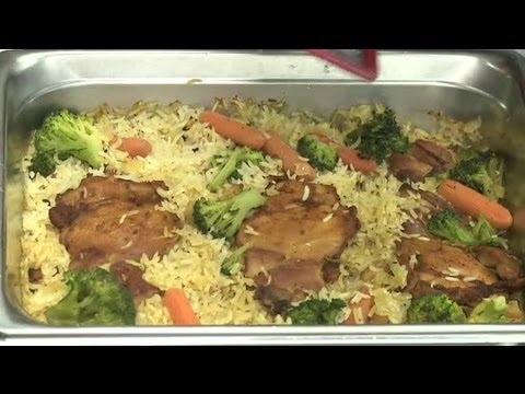 Recipe for Chicken With Rice, Cheese & Vegetables : Vegetable Dishes