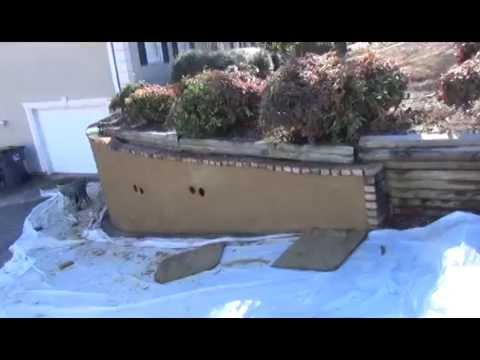 Stucco Retaining Wall