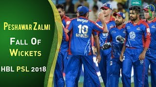 Peshawar Zalmi Fall Of Wickets | Karachi Kings Vs Peshawar Zalmi | Match 7 | HBL PSL 2018 | PSL