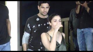 Alia Bhatt and Sidharth Malhotra at Gauri Khan