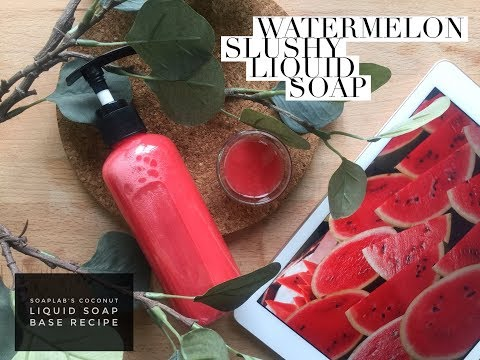 Homemade Watermelon Liquid Soap Anti Aging Malaysia
