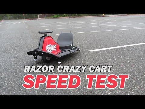 Razor Crazy Cart Speed Test - Max Speed Achieved Caught on GPS