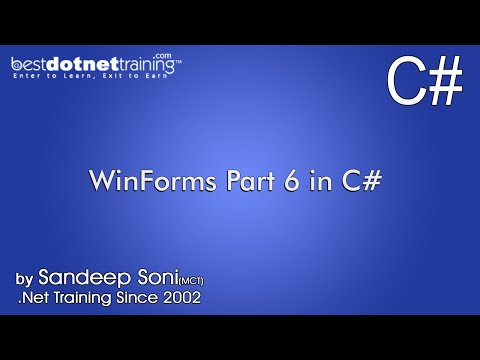 Part 6 - C# winForms - Creating MDI WIN Form Application