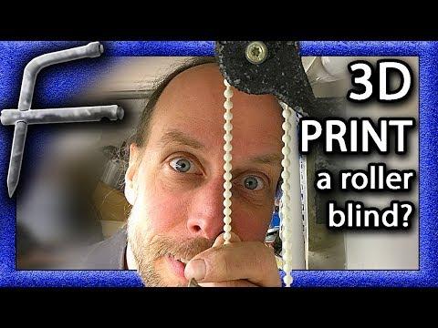 DIY: A 3D printed roller blind? Well, sort of!